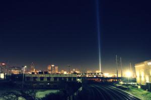 Shining Light at distance